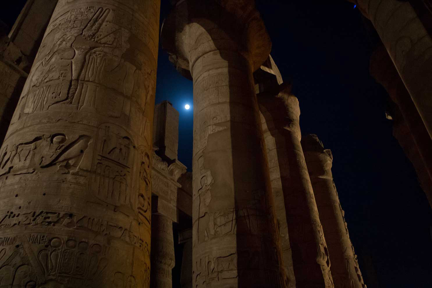 Karnak Temple at night