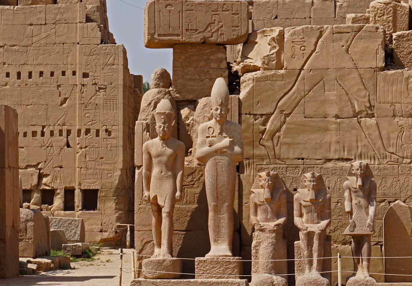 Ancient statues in Luxor