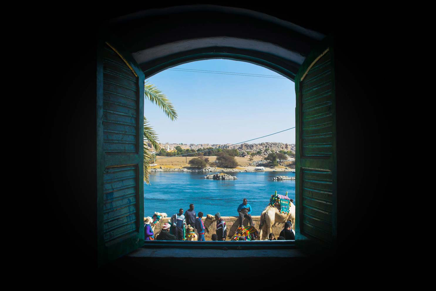 View over the Nile Aswan